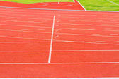 Running track for athletics and sport — Stock Photo