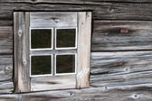 Old wooden house with window — Stock Photo
