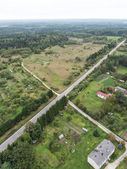 Forests and roads from above — Stock Photo