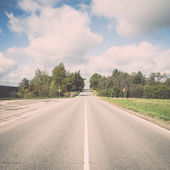 Empty country road. Vintage. — 图库照片