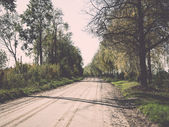 Empty country road. Vintage.. Vintage. — 图库照片