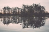 Reflections in the lake water. Vintage. — 图库照片