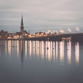 Panorama of the city of Riga, Latvia.. Vintage. — Stock Photo