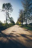Boş köy yolunda — Stok fotoğraf