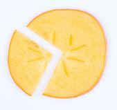 часть hurma. фруктовой диаграммы пирога — Стоковое фото