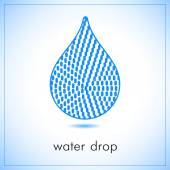 Water drop abstract vector logo design template. Rounded edges rectangles art creative concept — Stock Vector