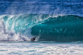 Bodyboarder at Pipeline — Stock Photo