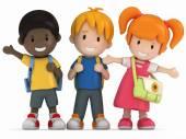 Happy School Kids — Stock Photo