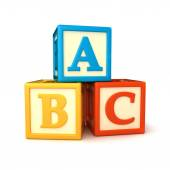 ABC building blocks — Stock Photo