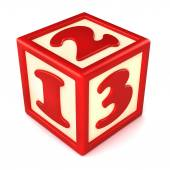 123 building blocks — Stock Photo