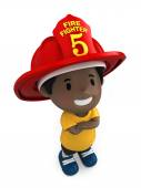 Little firefighter — Photo