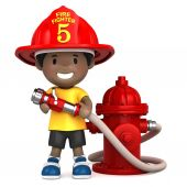 Little firefighter — Stok fotoğraf
