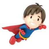 Superhero boy flying — Stock Photo