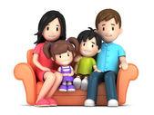 Happy family — Foto Stock