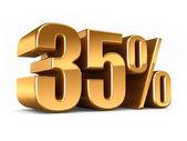 Gold 35 percent — Stock Photo