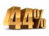 Gold 44 percent — Stock Photo