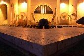 Cascade fountain in Yerevan, Armenia.night Scene — Stock Photo