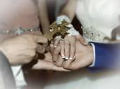 Wedding rings — Stok fotoğraf