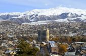 Vanadzor city, view from a height — Stock Photo