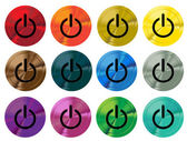 Colorful shiny switch buttons. Vector illustration. — Stockvector