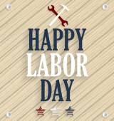 Happy Labor Day. Wooden background. Vector illustration. — Stock Vector