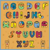 Vector illustration of alphabet — Stock Vector