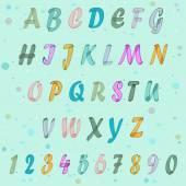 Suluboya alfabesi — Stok Vektör