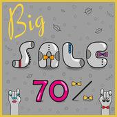 Inscription Big Sale. Vector Illustration — Vettoriale Stock