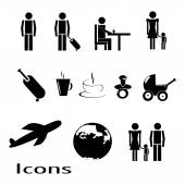 Air icons — Stock Vector