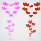 сердце стикер — Cтоковый вектор