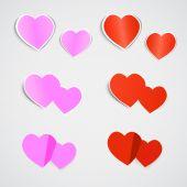 Pegatina de corazón — Vector de stock