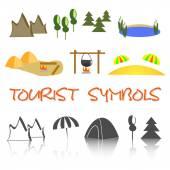 Tourist icon — Stock Vector
