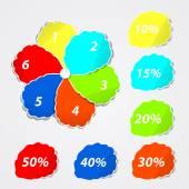 Paper flower sticker — Stock Vector