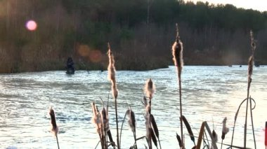 Fishing on the ice — Stock Video