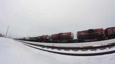 The locomotive stops — Stock Video