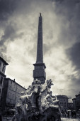 Four River Fountain in piazza Navona Rome — Stock Photo