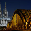 Cologne Cathedral (Dom) and Hohenzollern Bridge, Cologne, Germany — Stock Photo #67654241
