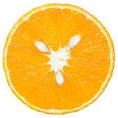 Fresh, ripe and juicy slice of orange. Isolated. — Stock Photo