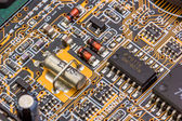 Old computer pcb. — Stock Photo