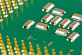 Small SMD capacitors on processor. — Stock Photo