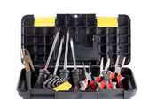 Tools box full with tools — Stock Photo