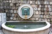 MACAU, MACAU - OCTOBER 15, 2014 - Water fountain and spout at Li — Stock Photo