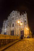 MACAU, MACAU - OCTOBER 16, 2014 - Ruins Of Saint Paul's Cathedra — Stock Photo