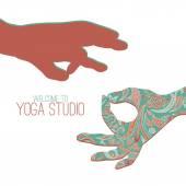 Yoga mudra. — Stock Vector