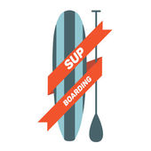 Stand up paddle surf — Vetor de Stock