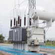 Power transformer in sub station 115 kv down to 22 kv — Stock Photo #55099469