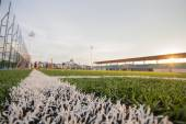Soccer artificial turf pattern and stadium — Foto de Stock