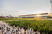 Soccer artificial turf pattern and stadium — Stock Photo