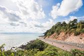 Winding Road along the beach — Stock Photo