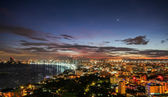 Pattaya city and sea at twilight time, Thailand — Stock Photo